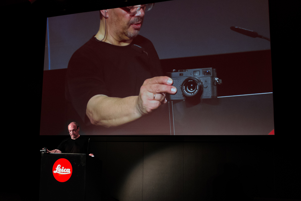 Dr. Kaufmann announcing the M Monochrom in Berlin