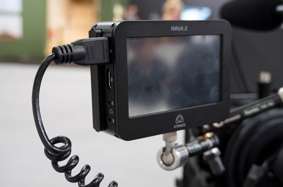 Atomos Ninja hooked up to S with HDMI cable