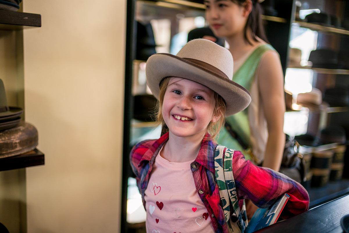 Sophia with Hat 1