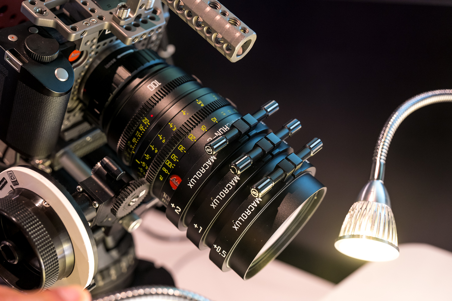 Leica 100mm Summicron-C with stacked MacroLux adapters on Leica SL with PL  mount adapter and LockCircle Metal Jacket
