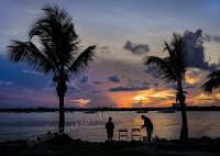 D9874 Sunset at Haulover Park