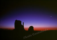 Monument Valley Sunrise. Utah. USA.  Leica R7