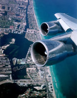 Flying over Miami Beach.