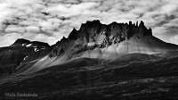Mountain Range at Berufjöróur Estuary. Iceland.