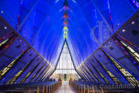 The Cadet Chapel. US Air Force Academy. Colorado. USA.