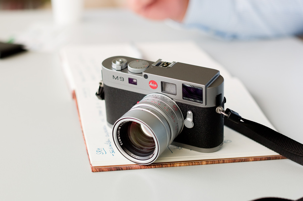 M9 in Steel Grey with Silver Chrome 50mm Summilux ASPH