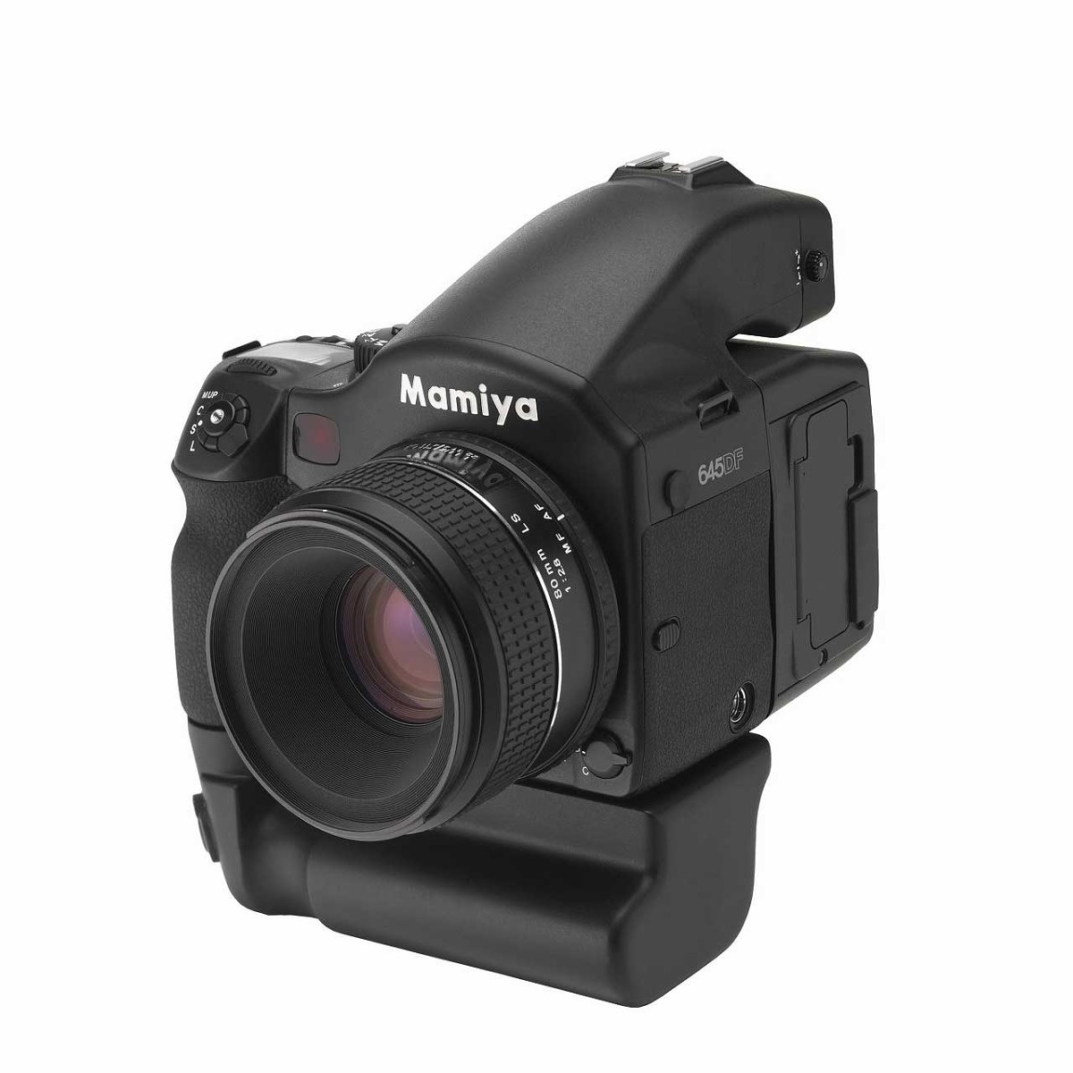 Mamiya 645DF (same as PhaseOne camera), shown with long-awaited vertical grip