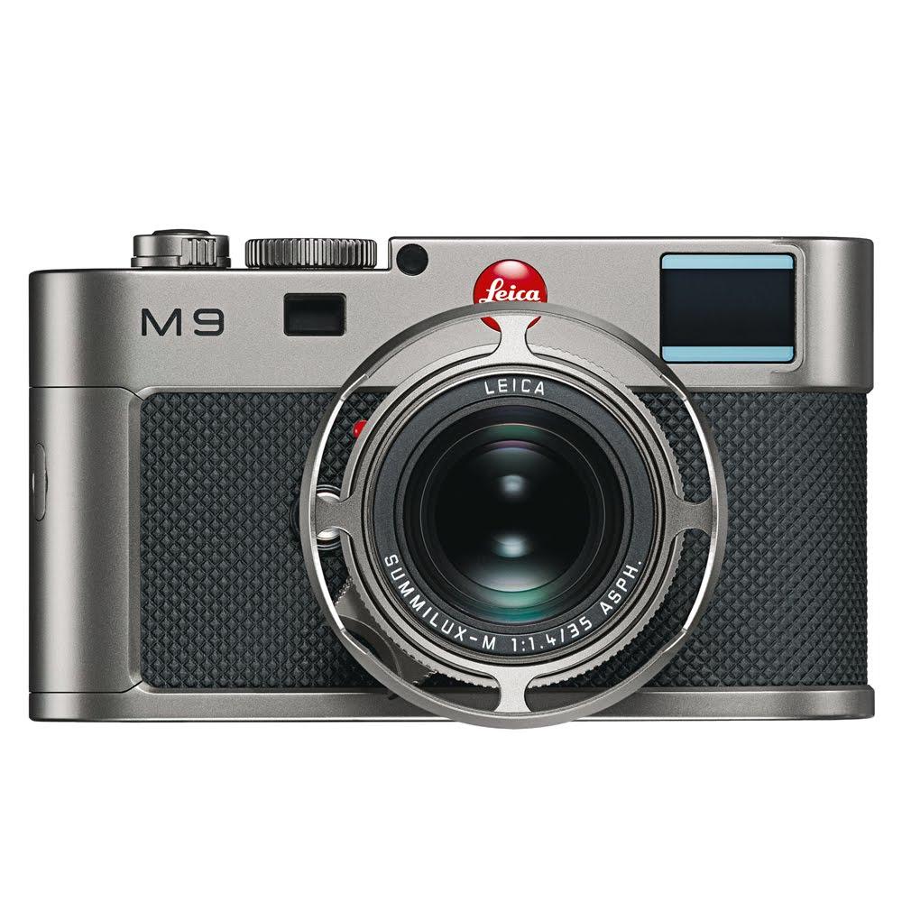 M9 Titanium front + lens hood