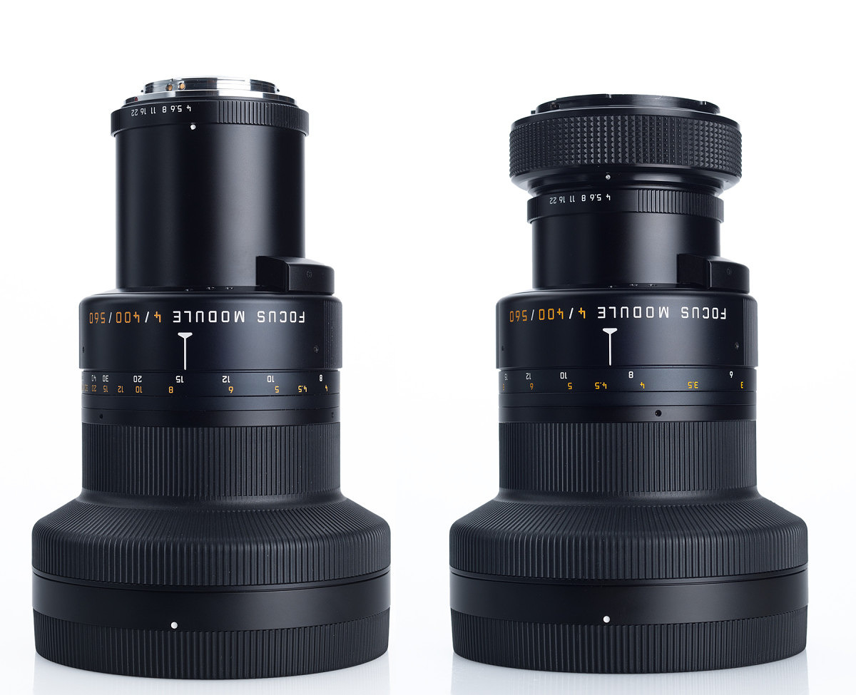 Before and After On left: the module with original R mount, On right: the module shortened and adapted to S mount