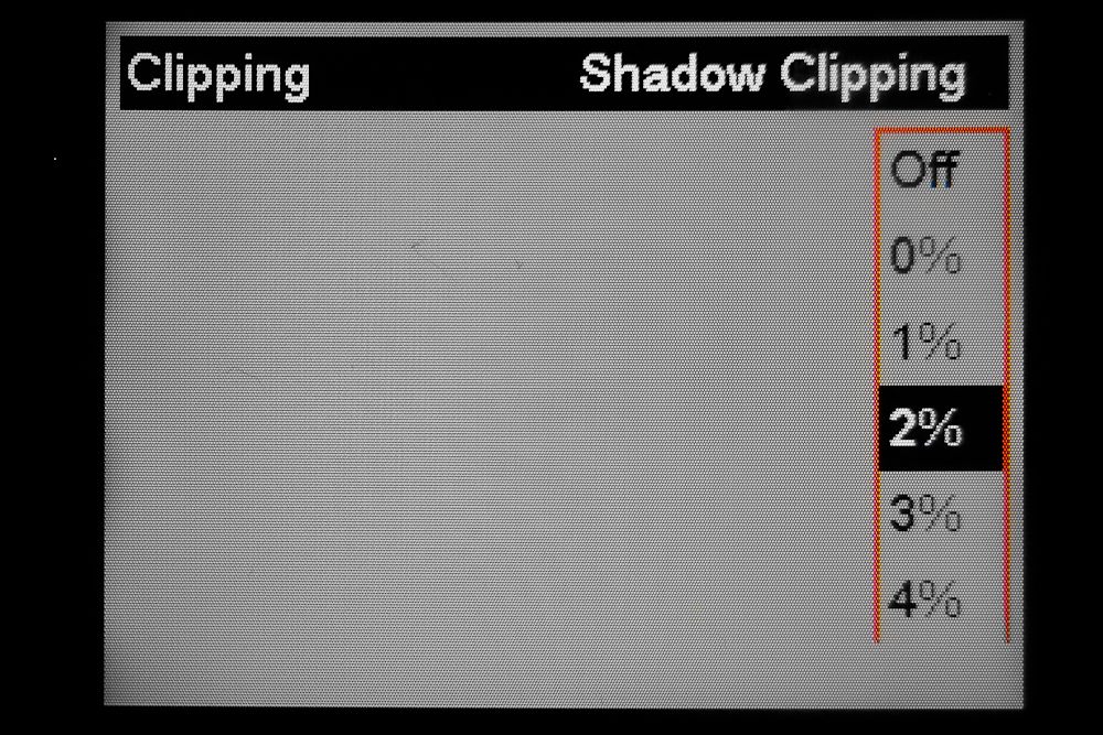 Setting histogram clipping definition