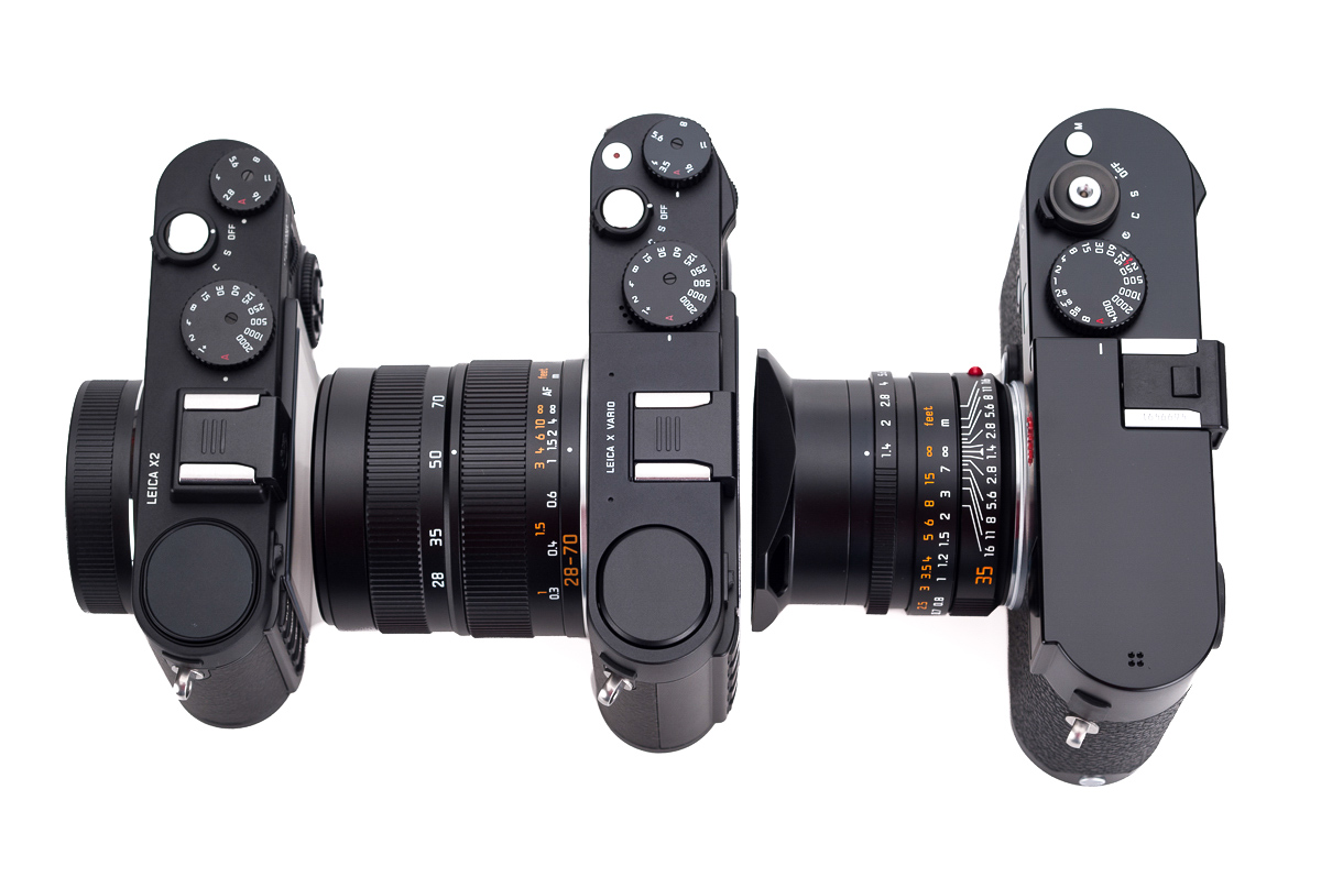 From left: X2, X Vario and M 240