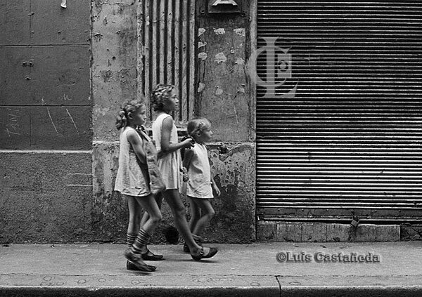 Girls strolling in Havana