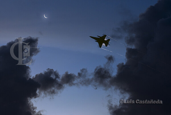 A-220 Moonrise and Jet